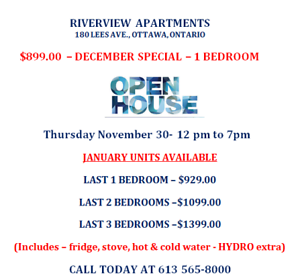 **2 BEDROOM UNIT AVAILABLE FOR APRIL 1ST STARTING AT $1299.00**