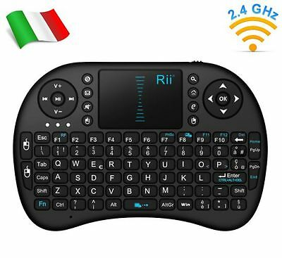 Rii Mini i8 Wireless Tastiera e mouse touchpad per Smart TV Mini PC e Console