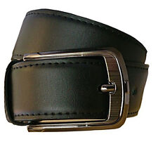 Non leather men black belt with self textured