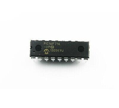 10pcs Pic16f716-ip Dip-18 Pic16f716 Microchip Dip18 8-bit Microcontroller