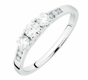 14kt White Gold Trinity Engagement Ring