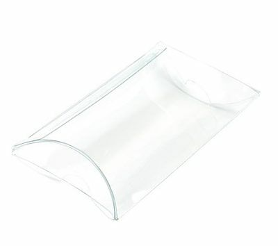 25 Clear Plastic Pillow Boxes; 2 x 3/4 x 3 Inches for Gift Embellishing ETC
