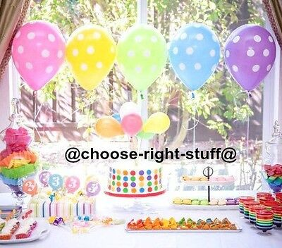 20 X Latex polka dot balloons BALLONS helium BALLOONS  Party Birthday Wedding (Polka Dot Latex-ballons)