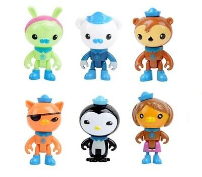 Octonauts Capt Barnacles Playset 6 Figure Cake Topper * USA SELLER* Toy Doll Set - Barnacles Octonauts