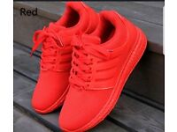 Breathable mesh flat-bottomed sports running shoes