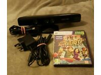 Xbox360 kinect with all leads and kinect adventures game