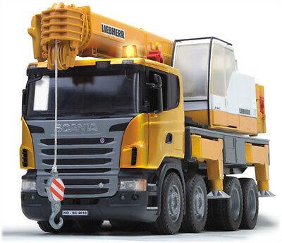 Bruder SCANIA Liebherr Crane Kids Toy Truck with Light & Sound Module 03570 NEW