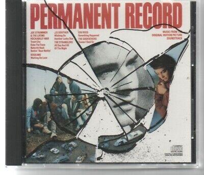 Permanent Record - Permanent Record RARE OOP SOUNDTRACK - Joe Strummer Lou ReedGodfathers Strangler