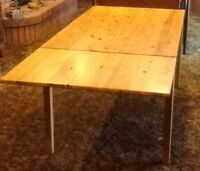 Vintage IKEA Pine Table with Extension.