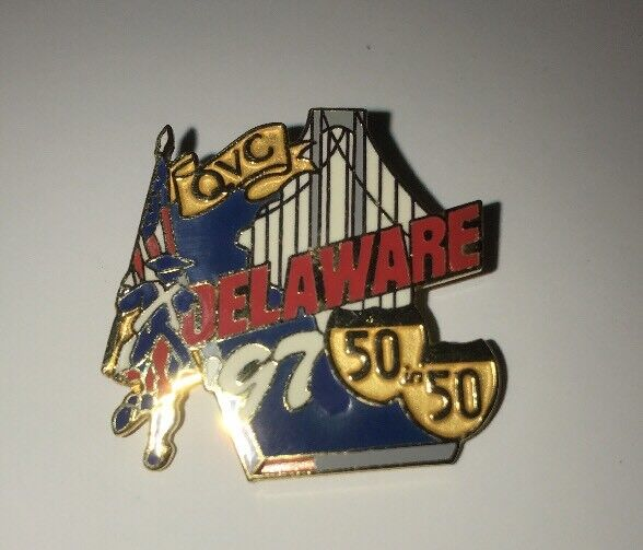 Delaware State Pin Vintage 1997 QVC 50 In 50 Tour