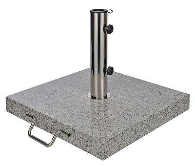 Granit Sonnenschirmständer 30 Kg eckig mit Rollen - Schirmständer Schirm Ständer