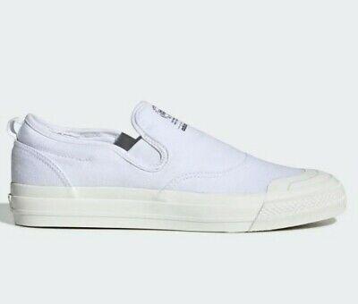 Adidas Nizza RF Slip on, White Colour, Size 9