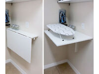 Ikea drop down table or desk. Wall mounted space saver
