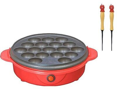 【Japan Import】Takoyaki machine RED 18 holes NWT-1865AR With octopus(Tako) pick×2