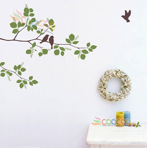 Wall-Decor-Decal-Sticker-Mural-Removable-Winter-branches-birds-41-two-color