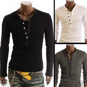 Hot-sale-New-Mens-Stylish-Casual-Formal-Stretch-Slim-Fit-Shirt-Sweat-Jumper-HS