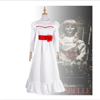 Kinder Erwachsene Annabel Cosplay Kostüm Weißes Kleid Frauen - Weißes Kleid Halloween