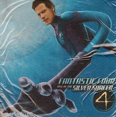 FANTASTIC FOUR Rise of the Silver Surfer LUNCH NAPKINS (16) ~ Party Supplies  - Surfer Supplies