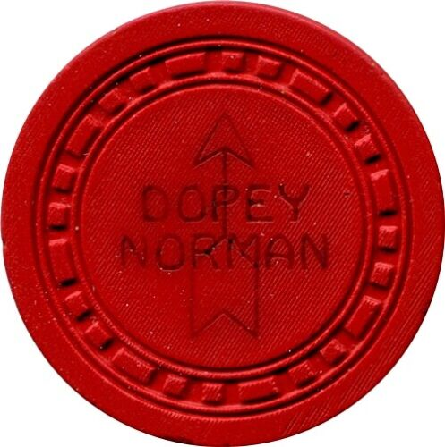 Dopey Normans, Lake Tahoe $.25 Casino Chip