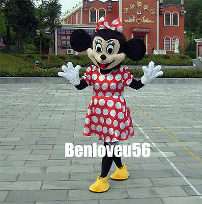 For Daughter's Gift Minnie Mouse Cartoon Costume Mascot Adult Size HIgh - Mouse Costume For Adults
