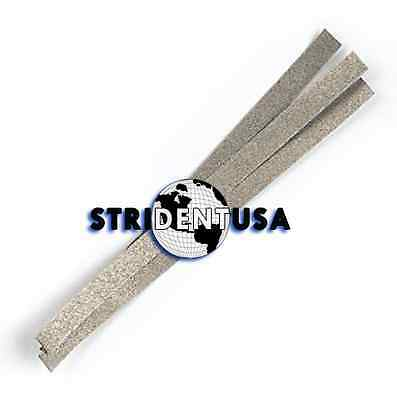 24 Dental Polishing Strips Stainless Steel 4 Mm Medium Grit One Side