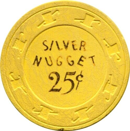 Silver Nugget, Las Vegas $.25 Casino chip R6 Rare 31-75