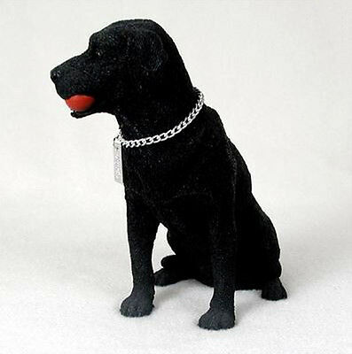 Black Labrador Retriever Figurine - LABRADOR RETRIEVER LAB (BLACK) MY DOG Figurine Statue Pet Lovers Gift Resin