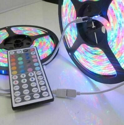 Valentines Party Decor (32FT 10M 3528 RGB Flexible Strip 600 SMD LED Light + 44 Key IR Remote)