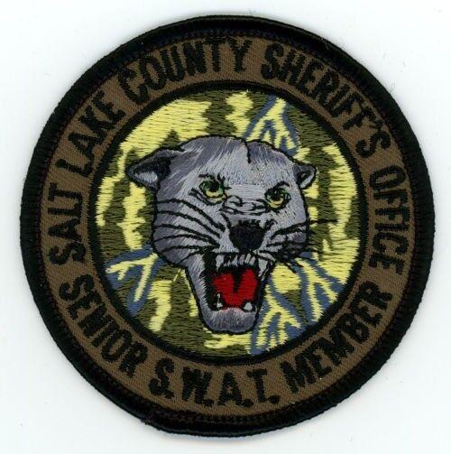 SALT LAKE COUNTY SHERIFF UTAH UT SENIOR SWAT MEMBER SUBDUED TACTICAL 3 INCH DIAM