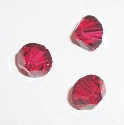 Swarovski bicone Austrian crystal beads faceted Scarlet red 3mm 4mm 5mm 6mm (6mm Faceted Bicone Beads)