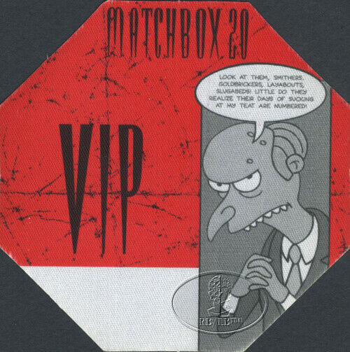 MATCHBOX TWENTY 2000 Backstage Pass Rob Thomas 20