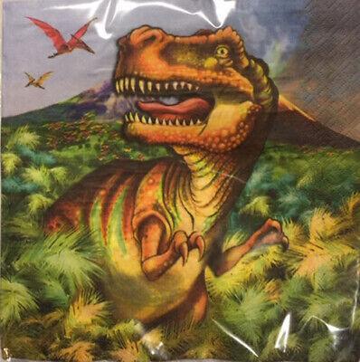 T Rex Birthday (DINOSAUS Happy Birthday Party lunch dinner PAPER NAPKINS 20pcs 2-ply dinos T)