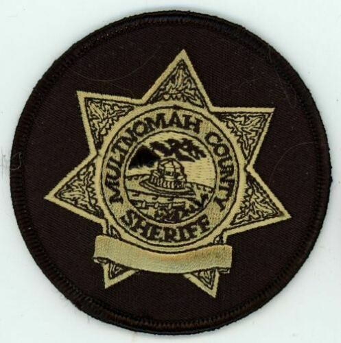 MULTNOMAH COUNTY SHERIFF OREGON OR ROUND PATCH 3 1/4 INCHES POLICE