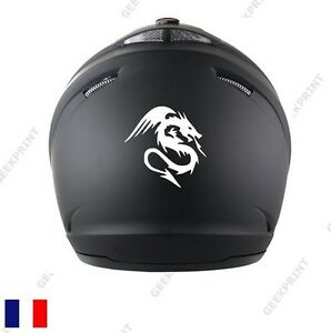 sticker autocollant dragon tribal reptile serpent casque moto scooter voiture. Black Bedroom Furniture Sets. Home Design Ideas