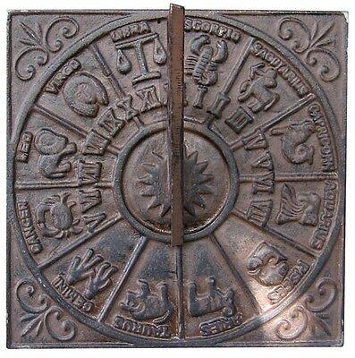 Sonnenuhr Sternzeichen Wand antik Landhaus Gusseisen Guss