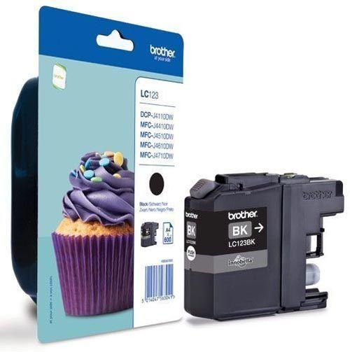 LC123 Black Original Brother Printer Ink Cartridge LC-123 Cupcake Series