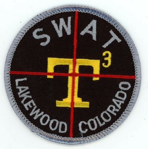 """LAKEWOOD COLORADO CO POLICE SWAT COLORFUL 3"""" PATCH SHERIFF"""