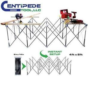 NEW 4' X 8' PORTABLE SAWHORSE K200 232292859 STRUT EXPANDABLE WORK SYSTEM KIT CENTIPEDE TOOL SUPPORT