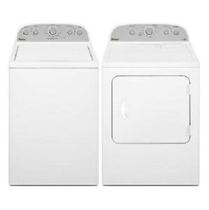 Combo HE Washer-Dryer Whirlpool, white