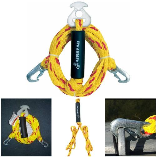 multi purpose tow rope heavy duty y harnes tube towable pulling boat water  ski   ebay  ebay