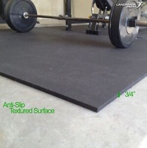 "4' x 6' x 3/4"" Crossfit Stall Mats- Durable Rubber - $2.03/SF!"