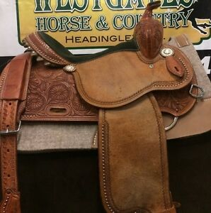 "Beautiful 14"" Martin Sherry Cervi Crown C Barrel Saddle"