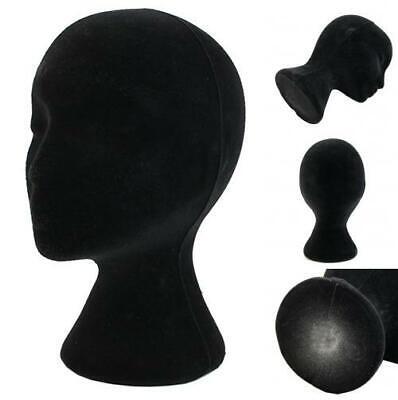 Female Black Styrofoam Foam Mannequin Head Model Wig Glasses Hat Display Stand