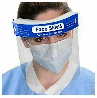 2 Pack Safety Full Reusable Face Shield Guard Head Band Elastic