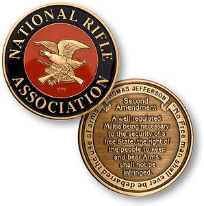 National Rifle Association NRA - Second Amendment - Bronze Challenge Coin