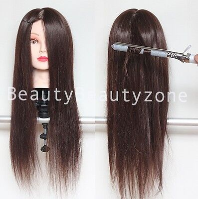 Hairdressing 80% Real Long Natural Hair Training Mannequin Head For College