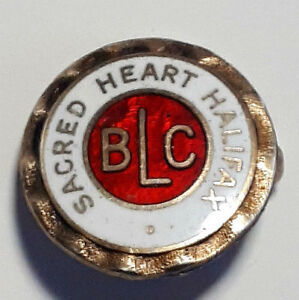 Antique Silver and Enamel Sacred Heart School of Halifax Pin
