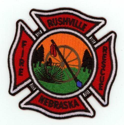 RUSHVILLE NEBRASKA FIRE DEPARTMENT NEW PATCH POLICE SHERIFF