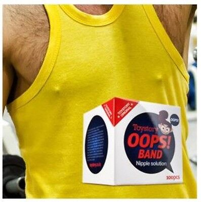 Oops! Band Men Nipple Patch Sticker Cover 100pcs 35mm Fabric Skin-friendly Korea