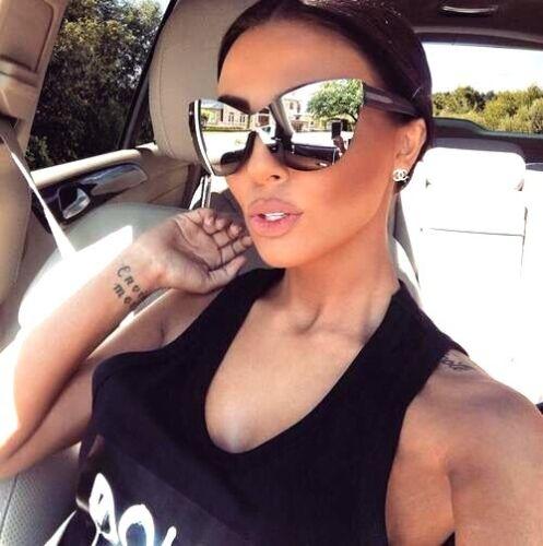 "Sunglasses ""BARBIE"" Princess Cat Eye OVERSIZED Mirror Women LIM Gafas SHADZ"
